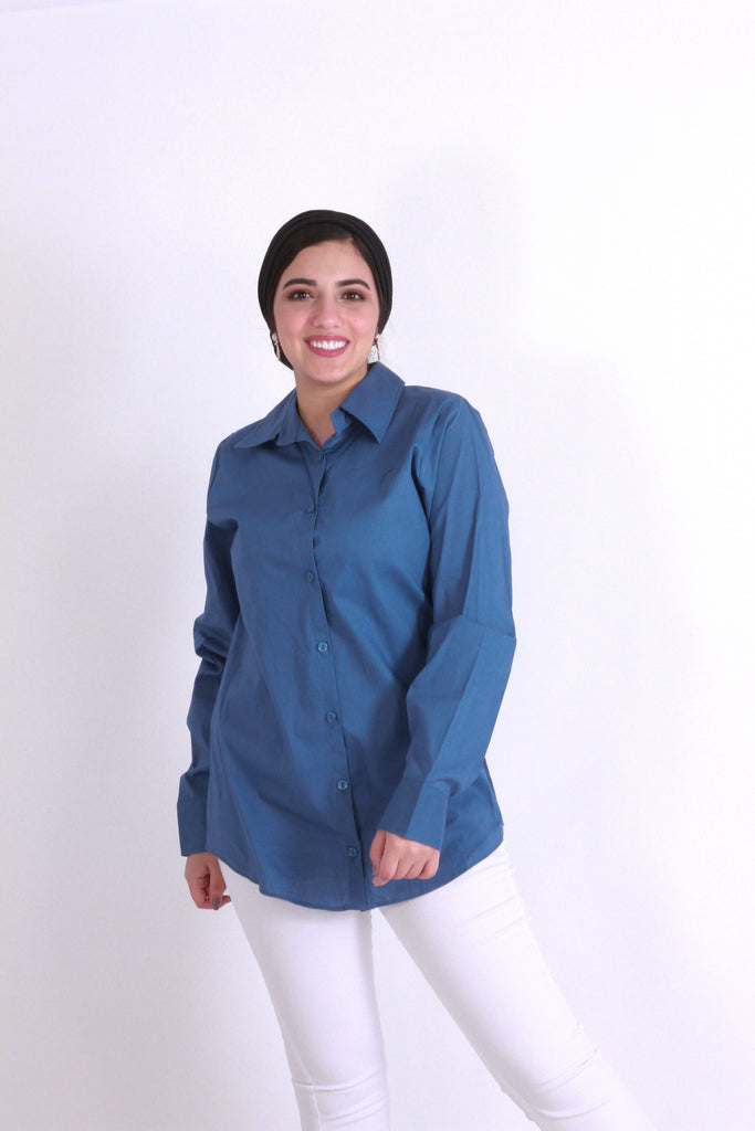 Bazic Shirt Demin Blue