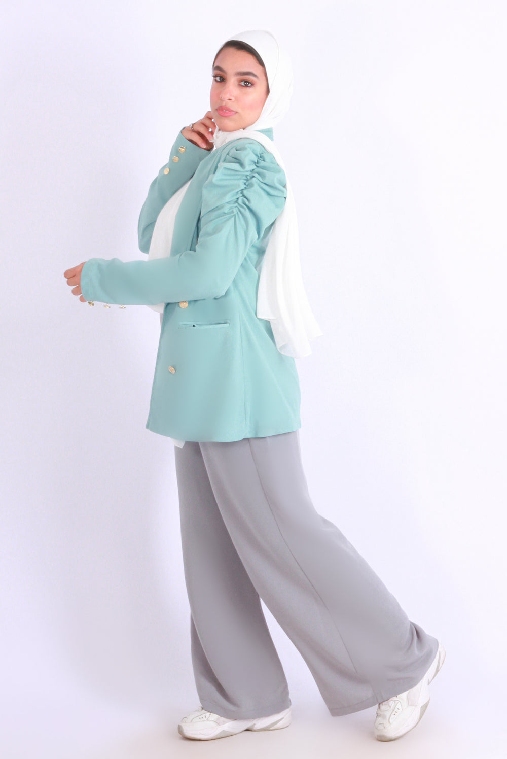 Puff Blazer Mint Green