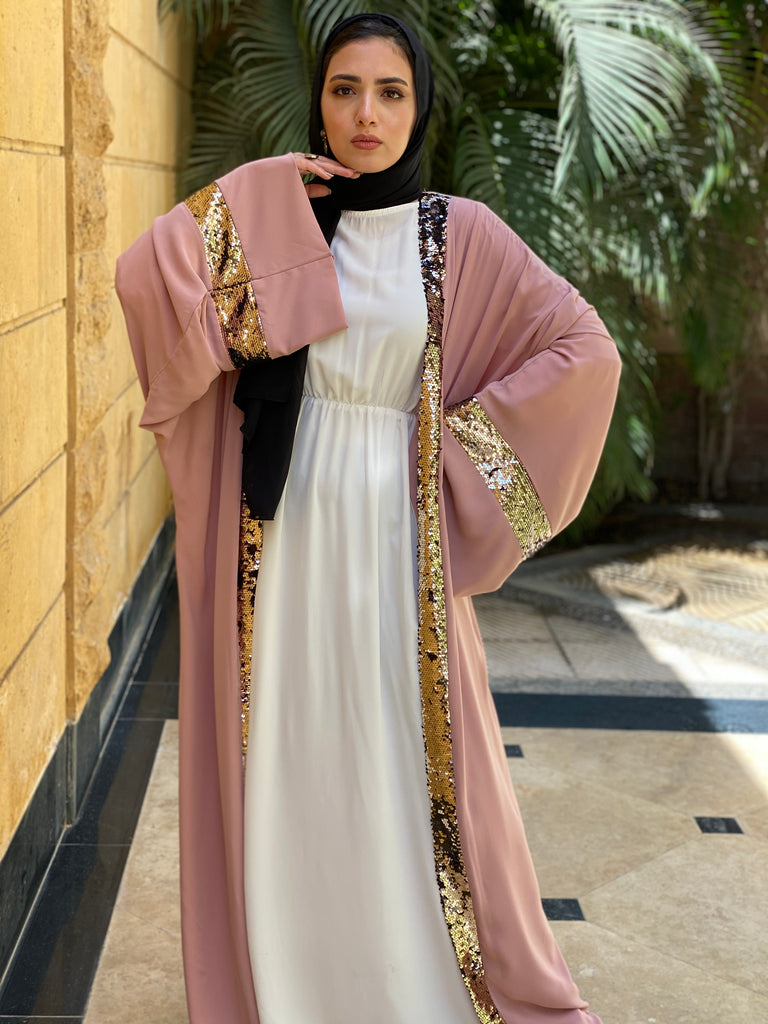 Shine Out Kaftan Nude Pink