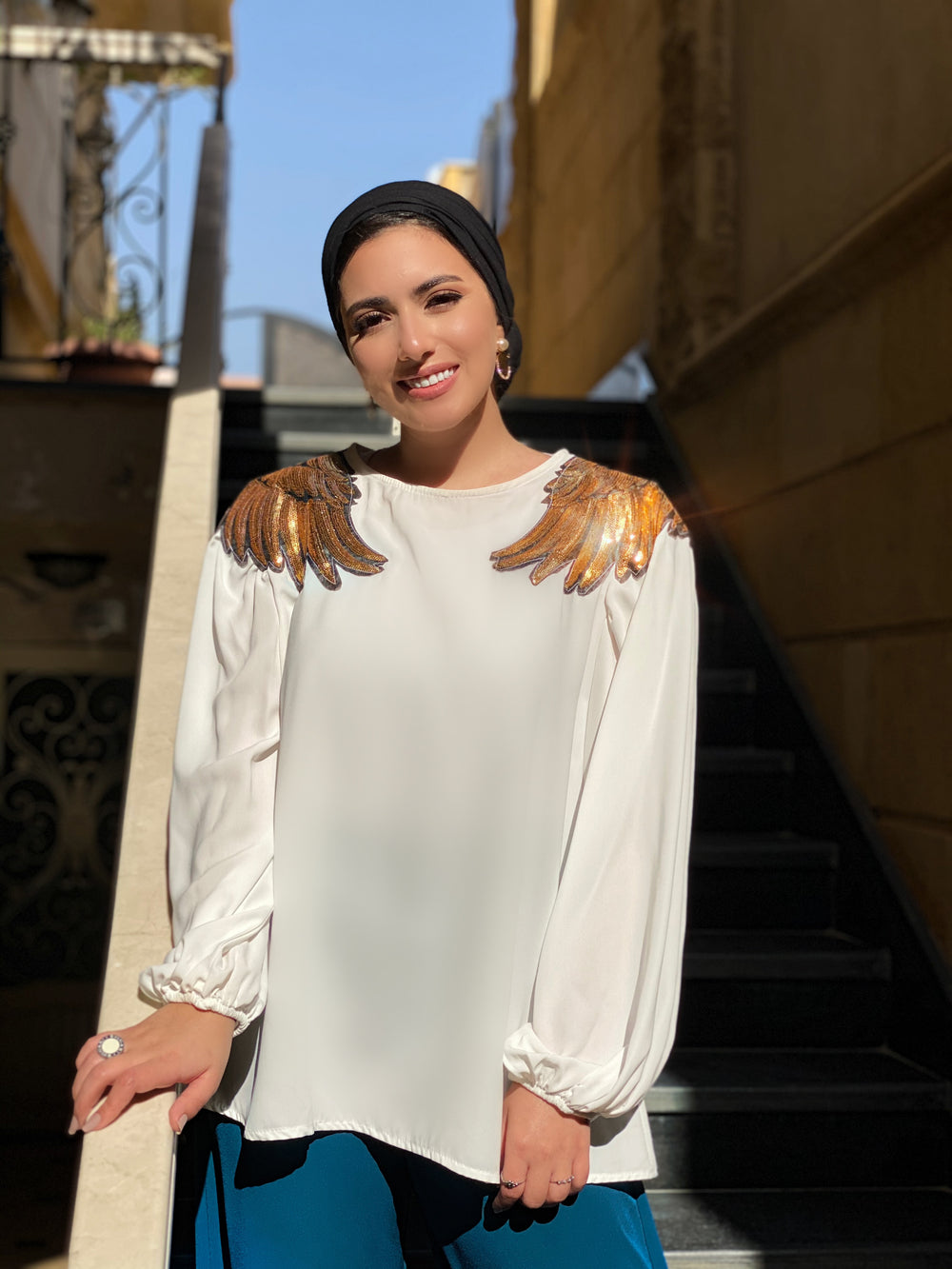 Golden Angel Blouse Cream