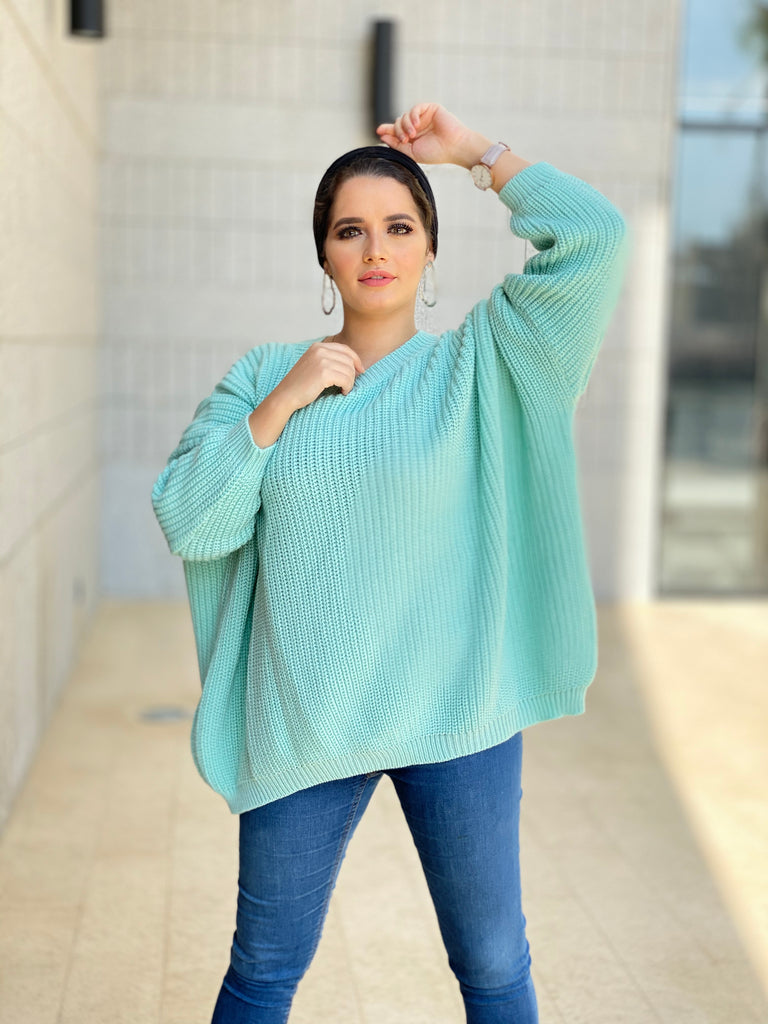 The V Sweater Mint Green