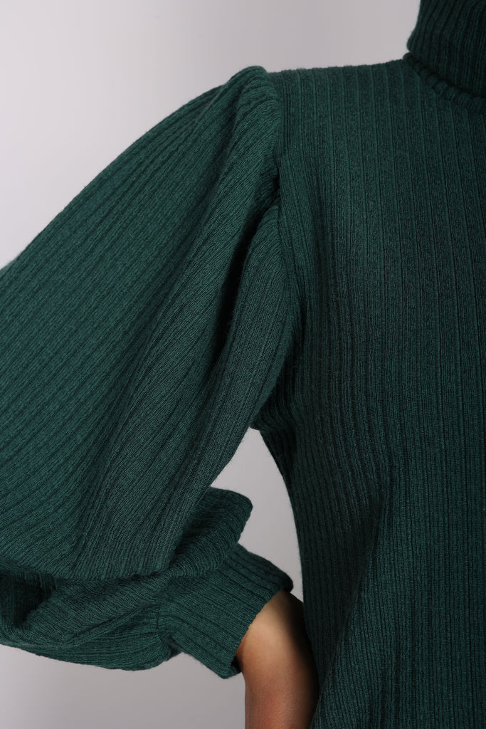 Puffy Blouse Emerlad Green