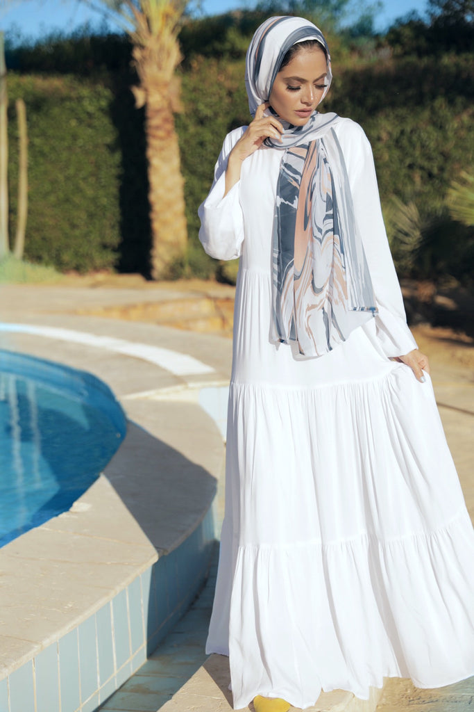 Maxi Layer Beach Dress - Cream