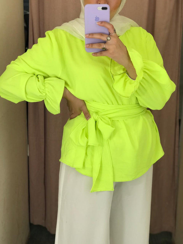 Waisted Blouse Neon