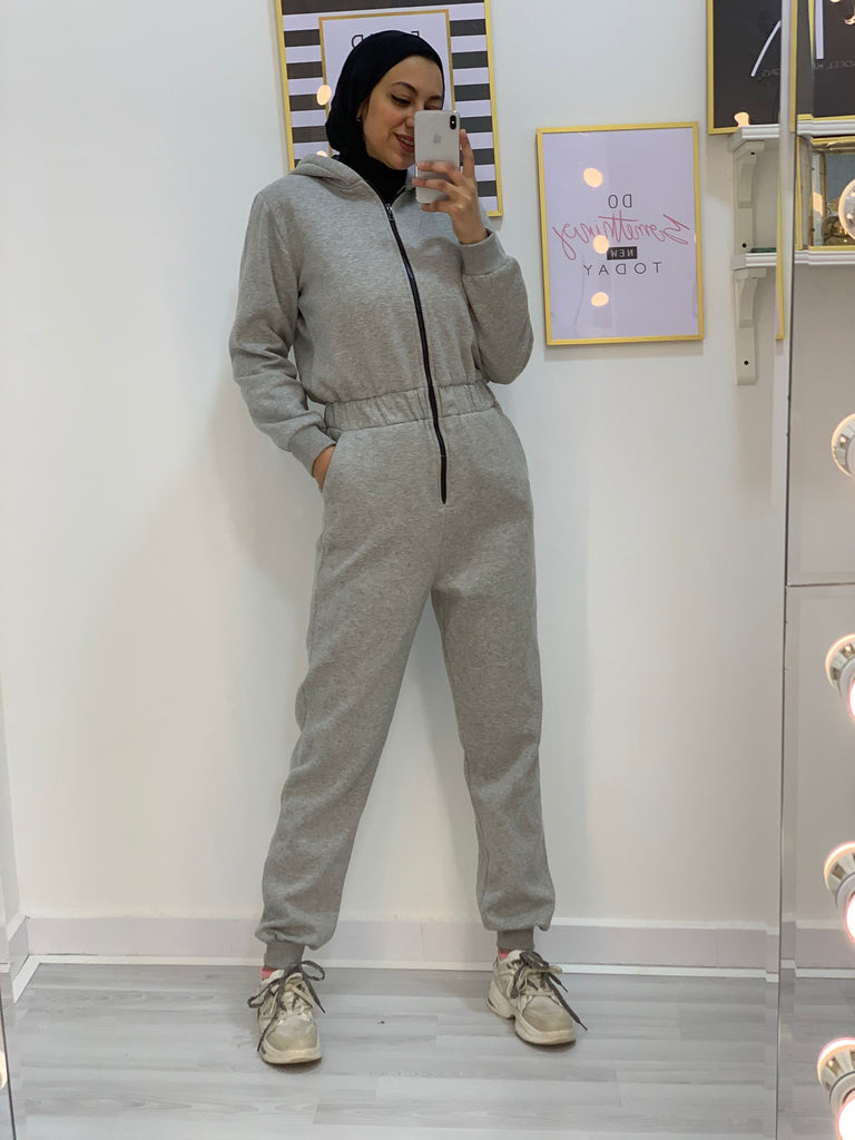Sporty Jumpsuit Grey