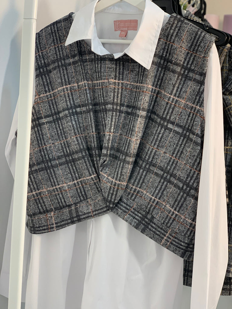 Checks Vest Grey Forst
