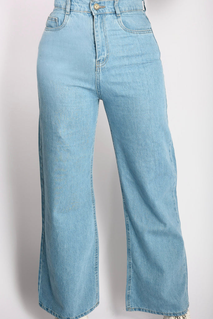 Wide Pants Jeans Ice