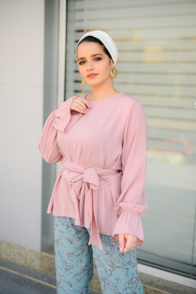 Waisted Blouse Nude Pink