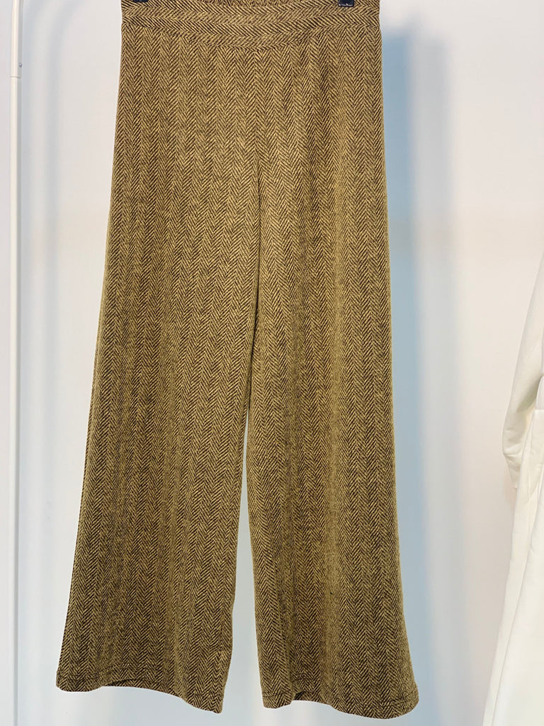 Ziggy Wide Wool Pants Caramel