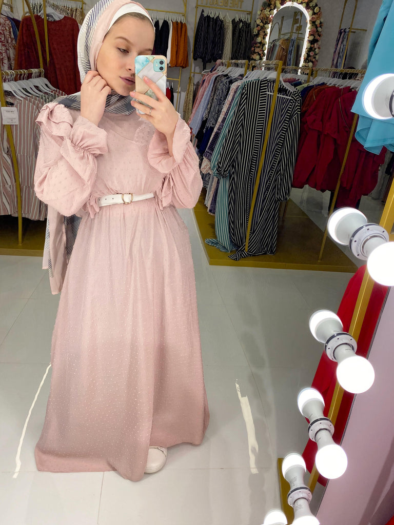 New Dress Nude Pink