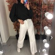 Wide Pants jeans White