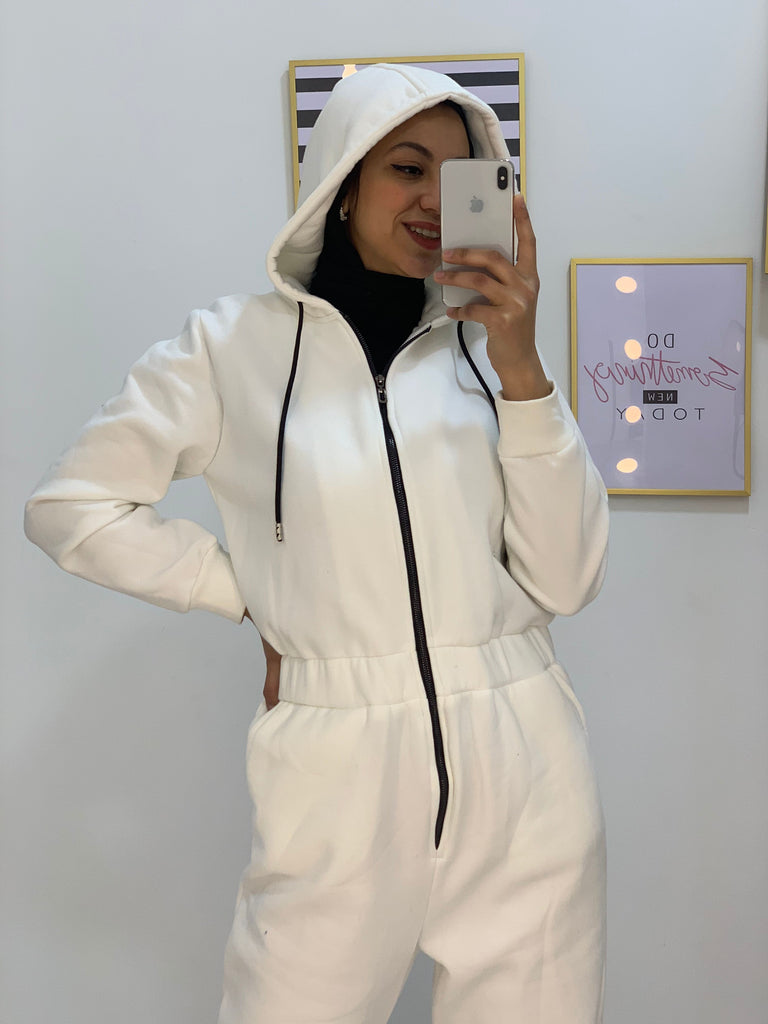 Sporty Jumpsuit White