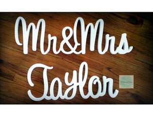 Wooden Wedding Name Sign