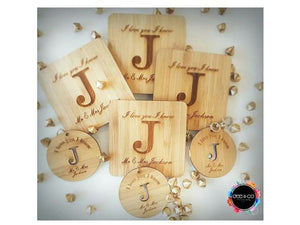 Bamboo Bag Tag Wedding Favours