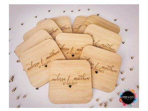 Bamboo Coaster Wedding Favours