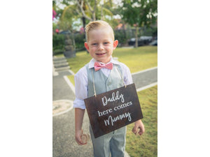 Wooden Page Boy Sign