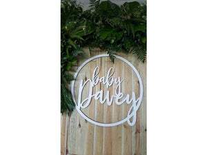 Wooden Hoop with Name