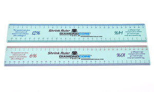 METRIC Shrink Ruler (Double-Sided, Sold Individually)