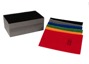 """VBSET"" is the COMPLETE ASSORTMENT of Velcro-backed Diamond Grit Removable Flexible Sanding Strips w/ FREE BLOCK"