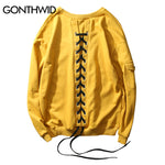 Back Lace-Up Hoodies