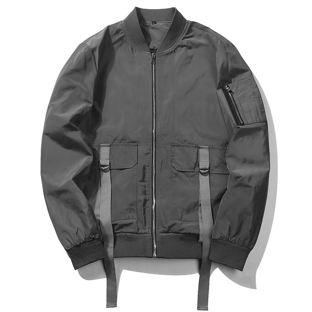 Double Zipper Bomber Jacket