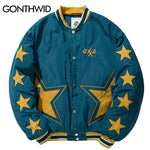 Star Embroidery Baseball Bomber Jacket