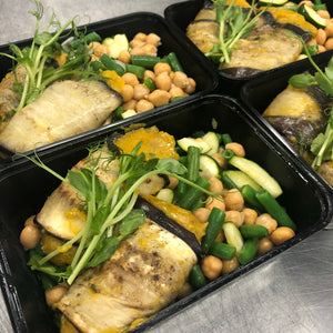 Eggplant Involtini and Chickpea Salad