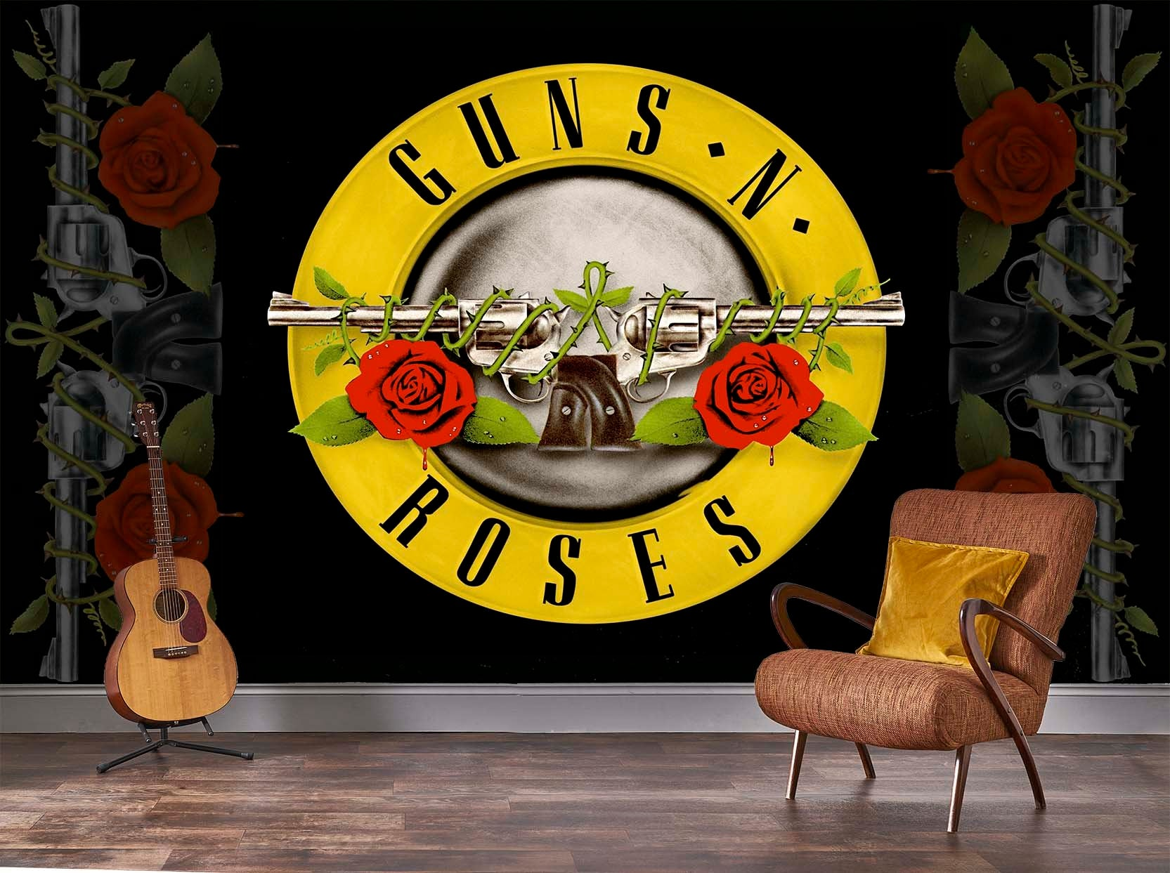 Guns N Roses Bullet Mural Rock Roll Limited