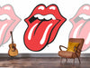 The Rolling Stones - Classic Tongue Mural