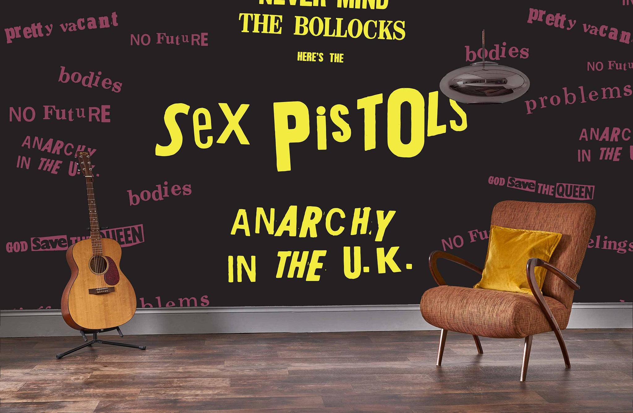 Sex Pistols God Save The Queen Mural Rock Roll Limited