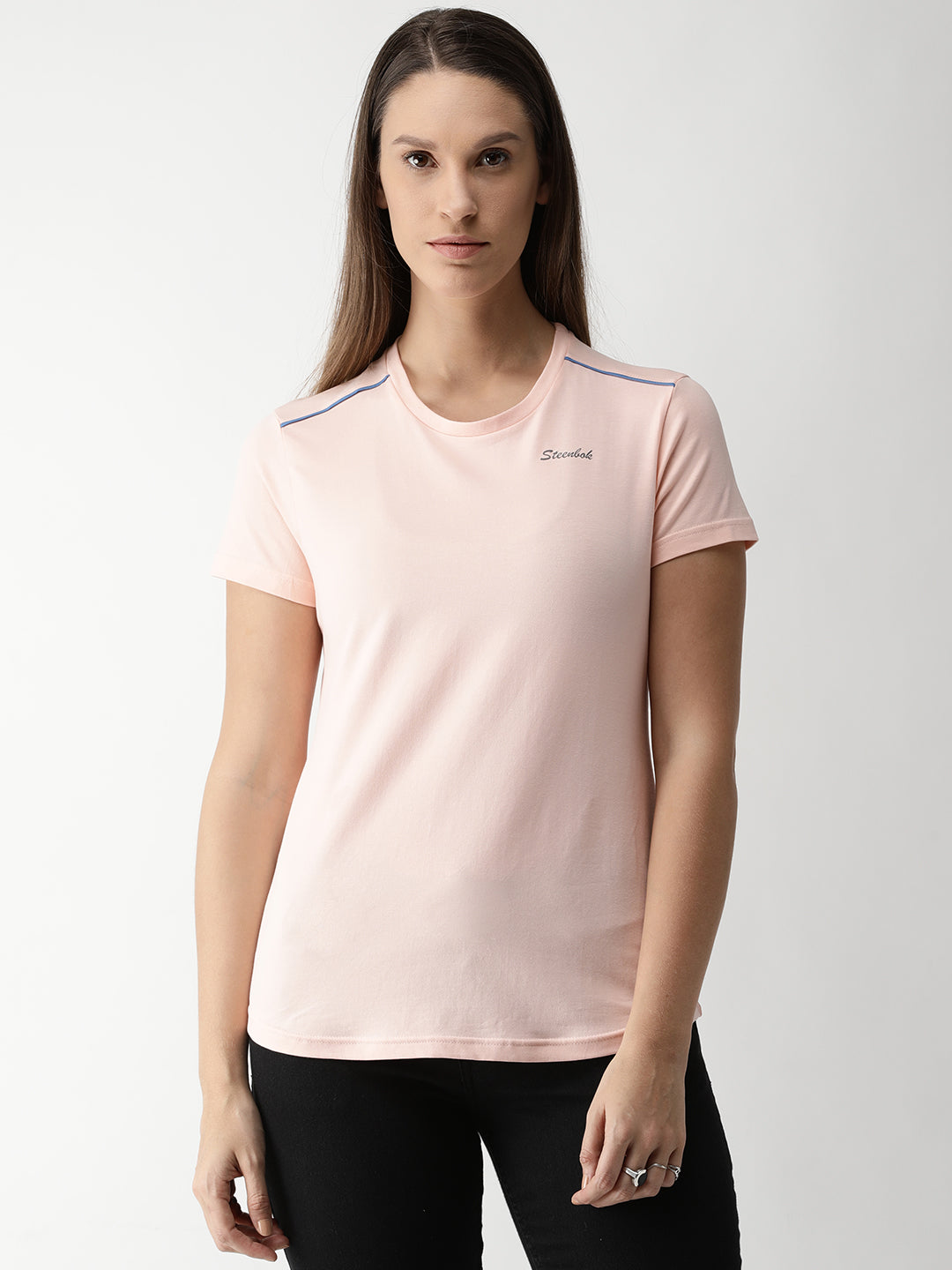 Women's Cotton candy Odour-Free Crew Neck T-Shirt