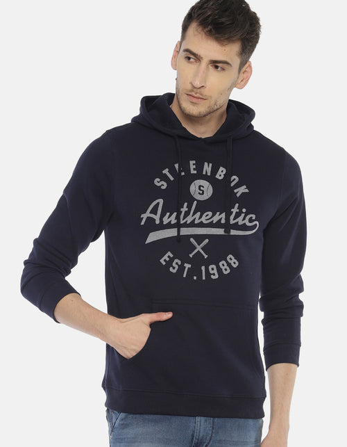 Steenbok Men's Navy Hooded Sweatshirt