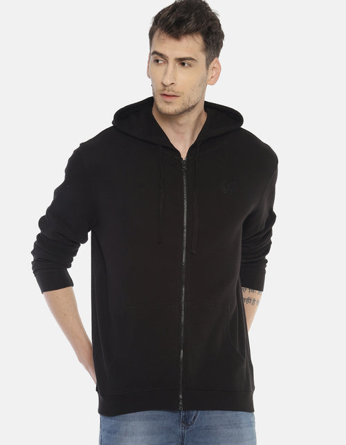 Steenbok Men's Black Hooded Sweatshirt