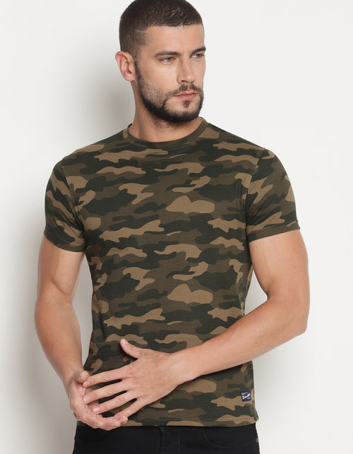 Classic Camouflage - Water & Stain Repellent Crew Neck T-Shirt