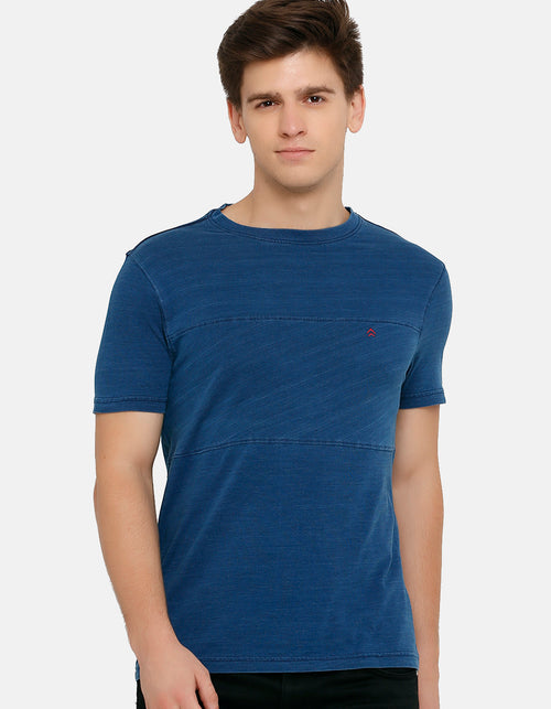 Men's Denim Indigo Crew Neck T-Shirt