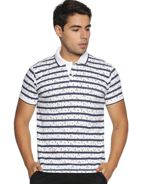 Men's Striped Polo T-shirt