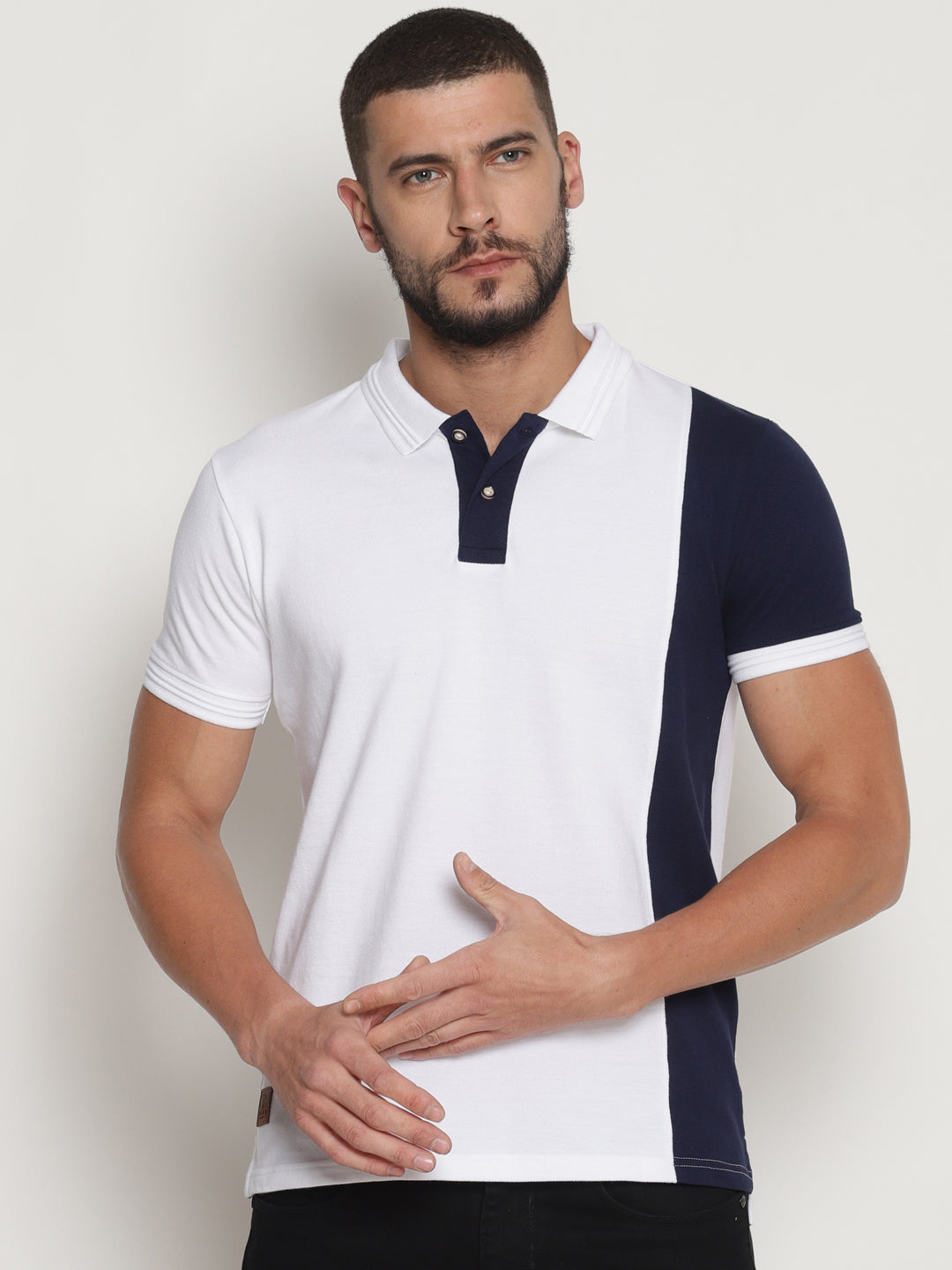 Men's Cut & Sew Polo T-Shirt