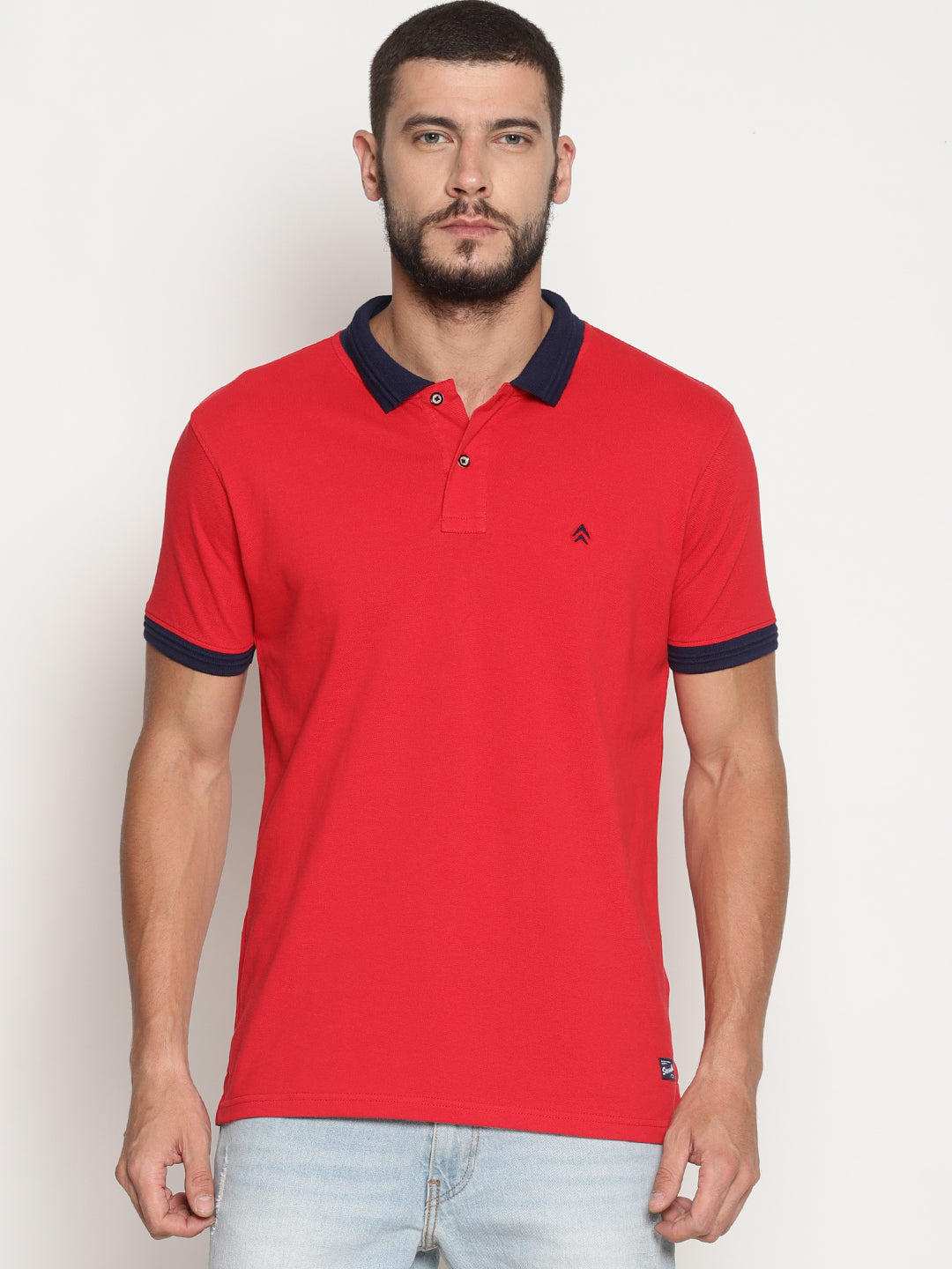 Men's Brick Red Solid Polo T-Shirt