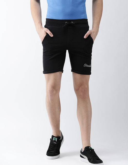 Men's Jet Black French Terry Shorts