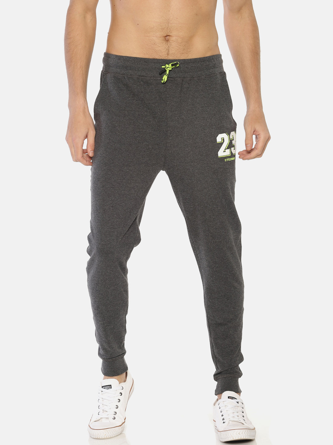 Men's Grey Melange Joggers