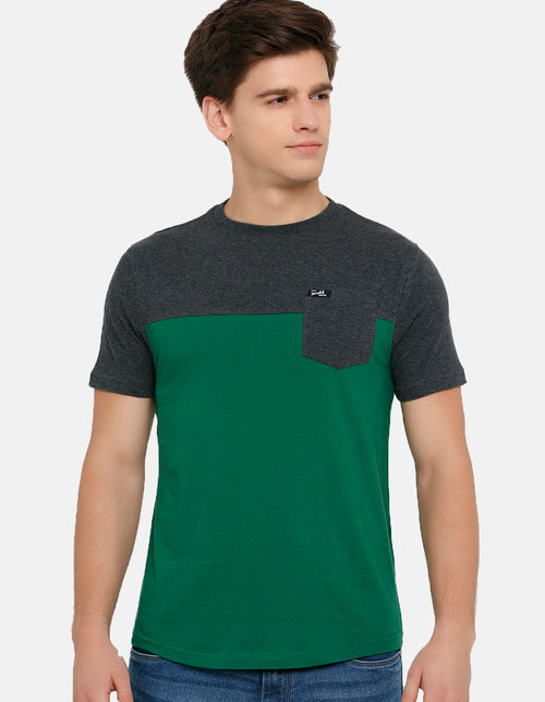Men's Anthra Melange Crew Neck T-Shirt