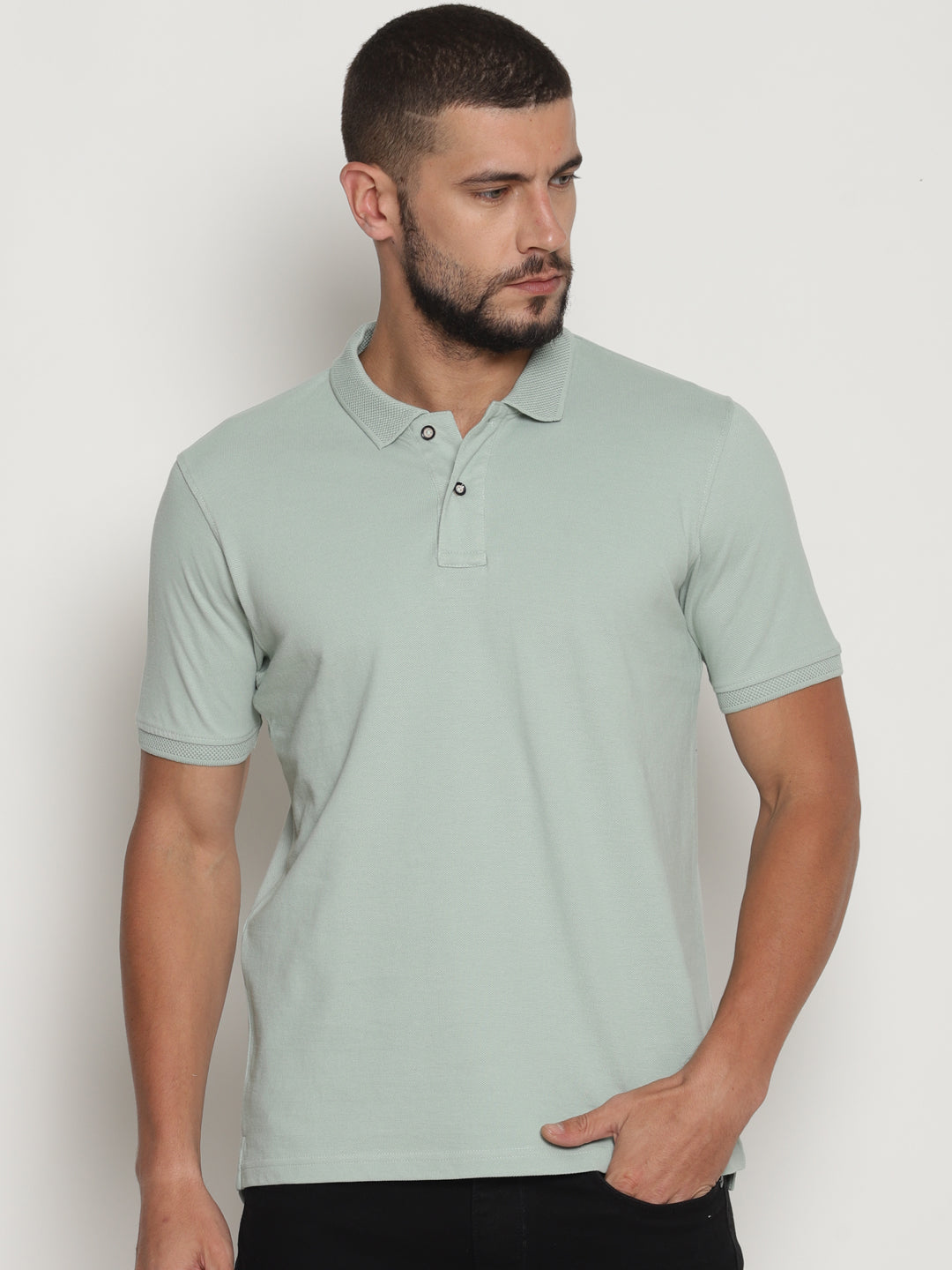 Men's Silt Green Pastel Edition Polo T-Shirt