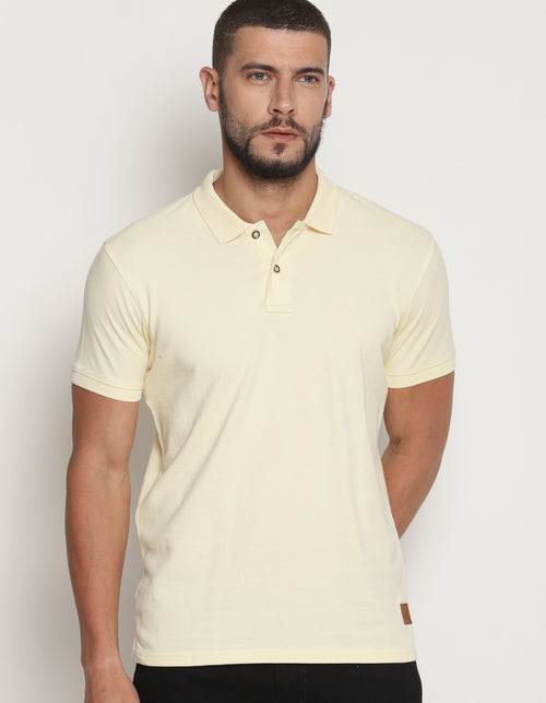 Men's Almond Oil Pastel Edition Polo T-Shirt