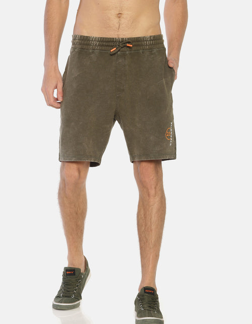 Men's Green Pique Shorts
