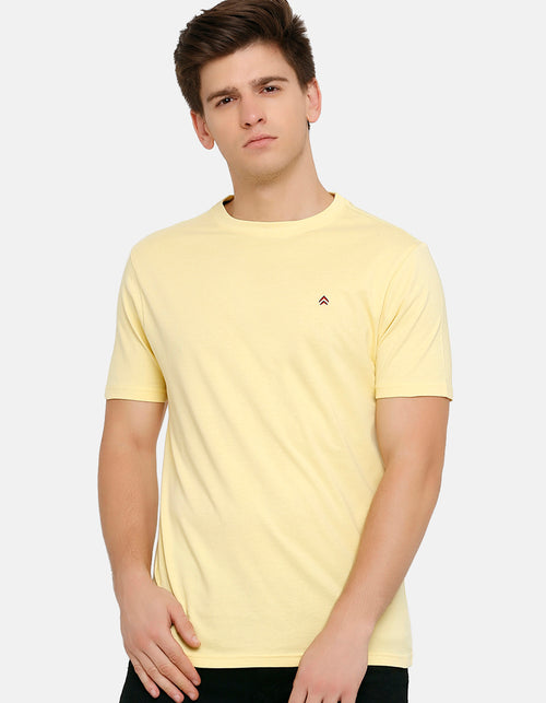 Men's Sandal Solid Crew Neck T-Shirt