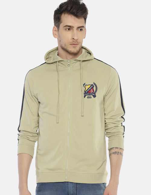 Steenbok Men's Green Hooded Sweatshirt