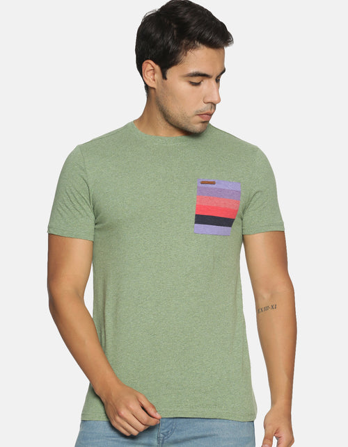 Men's Basic Y/D Pocket T-shirt