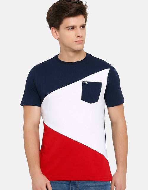 Men's Navy Crew Neck T-Shirt