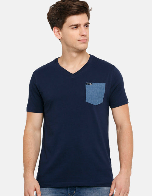 Men's Navy V Neck T-Shirt