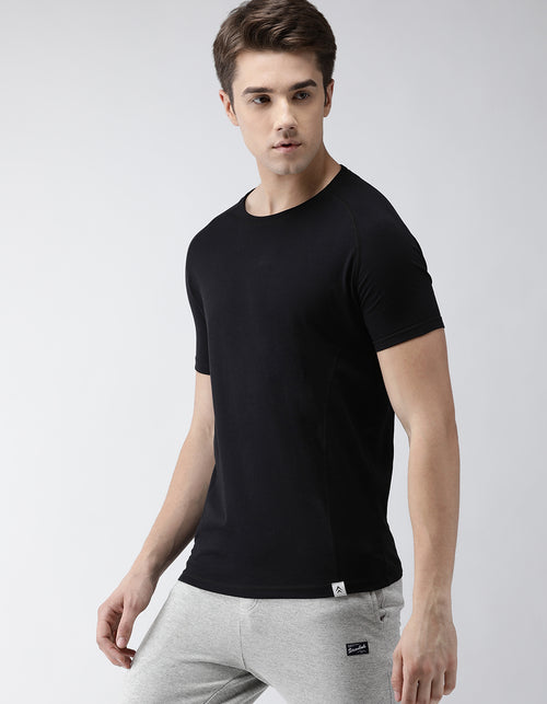 Men's Jet Black Raglan Odour-Free T-Shirt